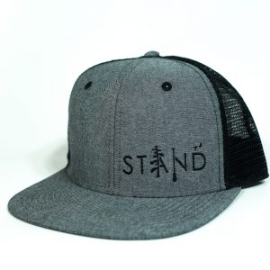 Stand Trucker Black Oxford Chambray
